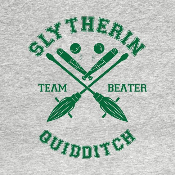 Check out this awesome 'Quidditch+-+Slytherin' design on @TeePublic!