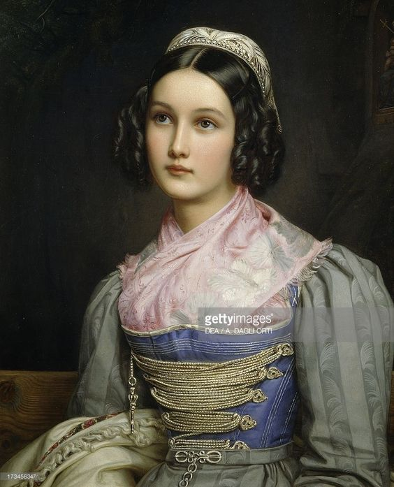 Portrait of Helene Sedelmayer ~ Joseph Karl Stieler ~ (German, 1781-1858):