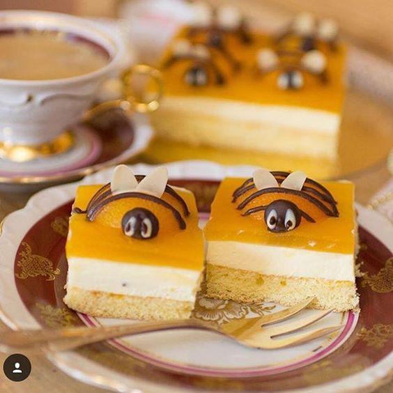 Sucht Ihr noch Ideen für Ostern? Der Bienen-Aprikosen Kuchen von ...