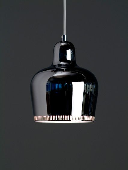 Alvar Aalto, Chrome Bell pendant lamp, 1939.: