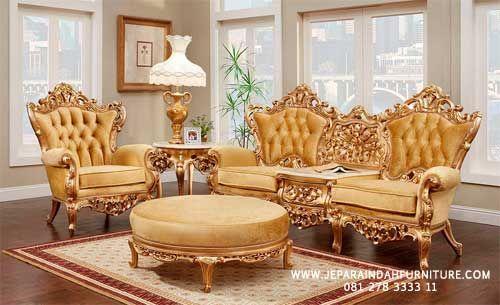 Ruang Keluarga Dengan Konsep Glamour French Living Room Furniture Victorian Living Room Furniture Living Room Decor Furniture