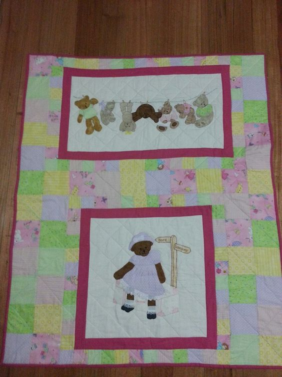 Baby quilt  Made  for our new granddaughter Kayleigh jade....