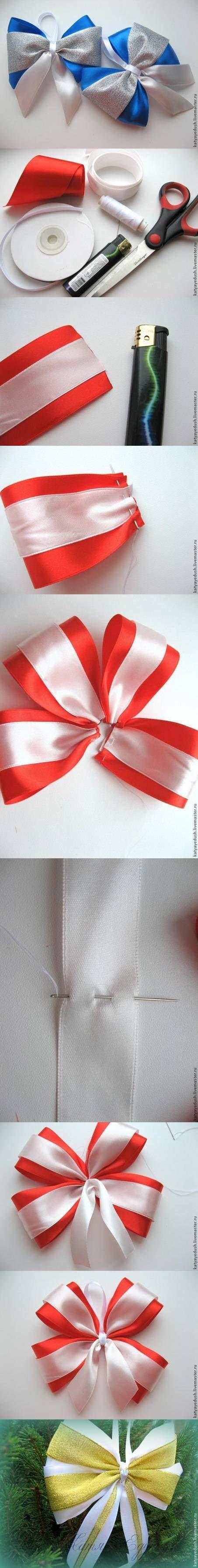 DIY Bow para árboles de Navidad DIY Proyectos | UsefulDIY.com