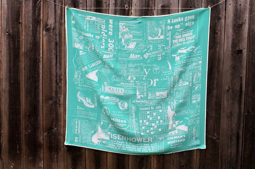 How to turn a family treasure into a fabric design: Make a silk scarf using old newspaper clippings bit.ly/JL7d2h