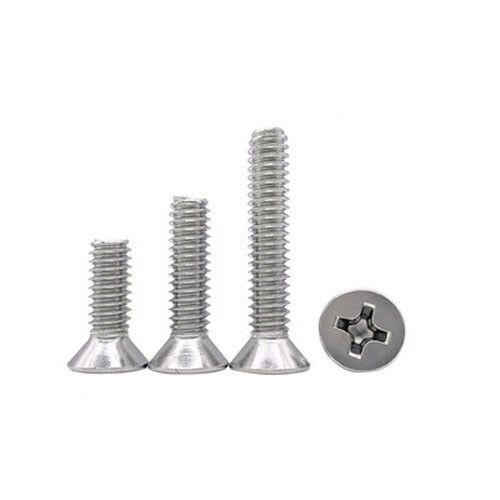 Sponsored Ebay 4 40unc Countersunk Head Phillips Screw Stainless Steel Flat Bolt 3 16 1 3 4 Stainless Steel Bolts Machine Screws Bolt