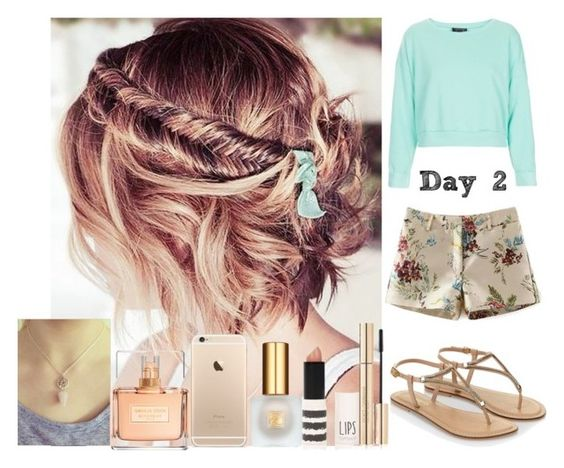 """""""Day #2."""" by bravomaria ❤ liked on Polyvore featuring Estée Lauder, Givenchy, Dolce&Gabbana, Topshop and Accessorize"""