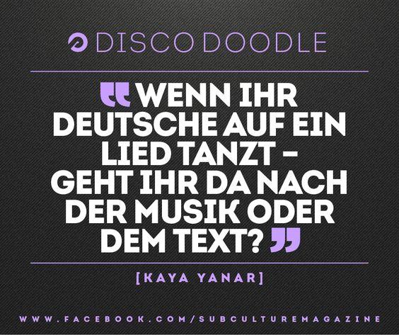 Wenn ihr Deutsche auf ein Lied tanzt - Geht ihr da nach der Musik oder dem Text?