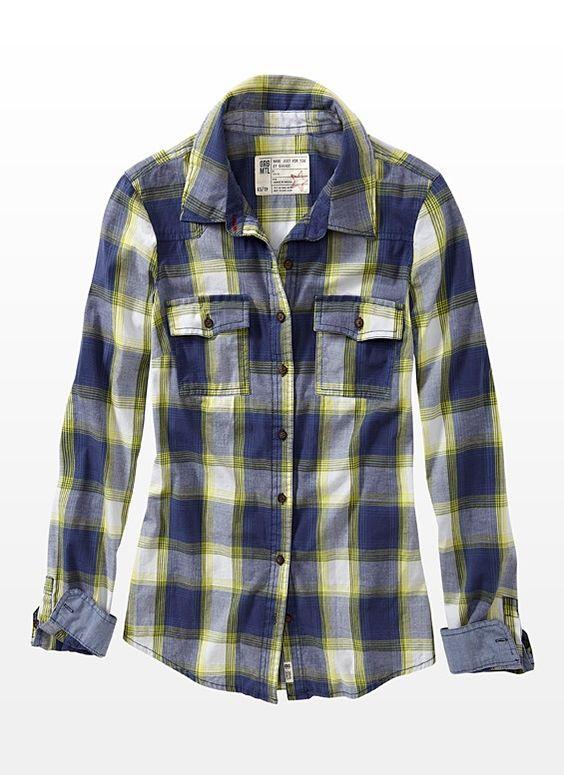 Plaid Poplin Shirt - Garage $15