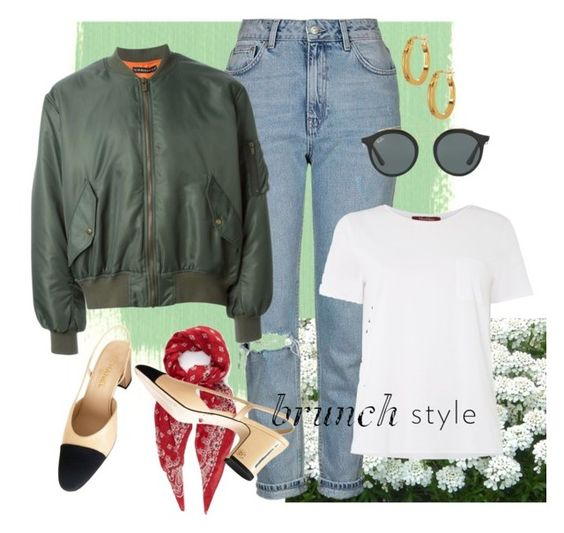 """""""Gloomy Spring"""" by meecifu on Polyvore featuring Topshop, Y/Project, Yves Saint Laurent, Chanel, MaxMara, Ray-Ban and Argento Vivo"""