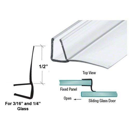 Shower Door Polycarbonate With 90 Degree 1 2 Long Vinyl Fin Seal For 3 16 And 1 4 Glass 64 Long Review Shower Doors Glass Shower Doors Vinyl