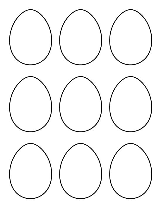 Printable Small Egg Pattern Use The For Crafts