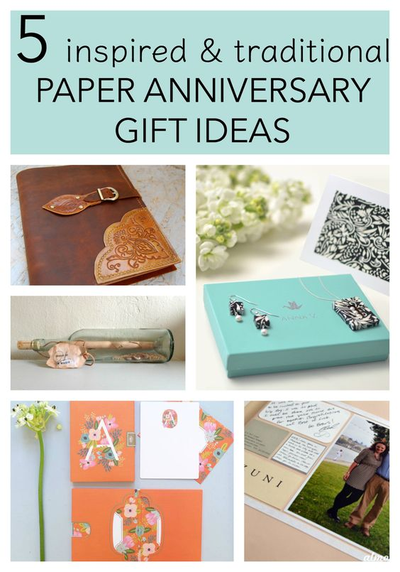 5 Traditional Paper Anniversary Gift Ideas For Her Ideas
