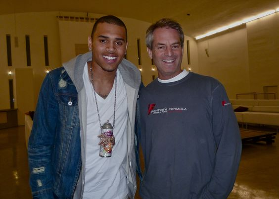 Chris Brown and Dan Davidson owner of #TheTemplehouse Chris called this place home for 4 days once upon a time...