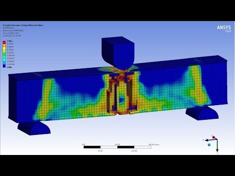 ANSYS Reinforced Concrete Beam (RC BEAM) - Explicit Dynamics - YouTube