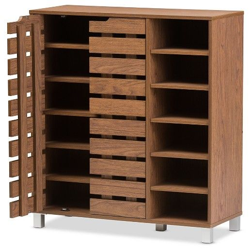 Featuring Modern And Contemporary Design This Fantastic 2 Door Shoe Cabinet With Open Shelves Combines Storage Shoe Cabinet Shoe Storage Cabinet Shoe Cupboard
