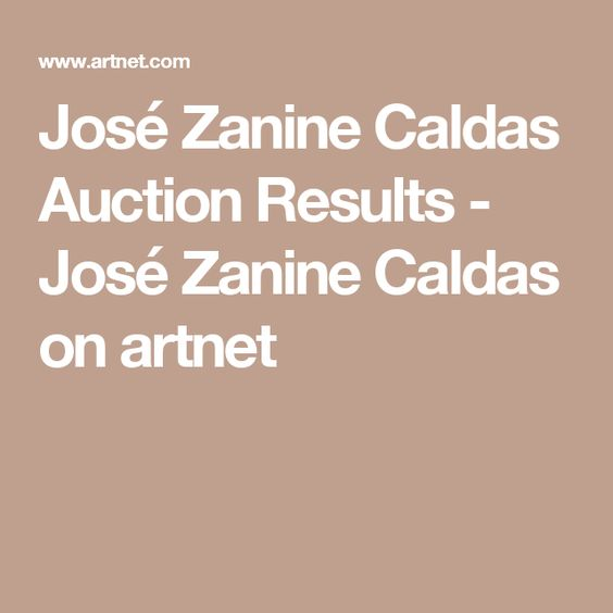 José Zanine Caldas Auction Results - José Zanine Caldas on artnet