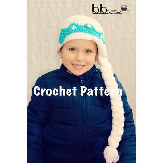 Crochet Elsa Hair : ... elsa crochet hair beanie frozen braided hair elsa from frozen patterns