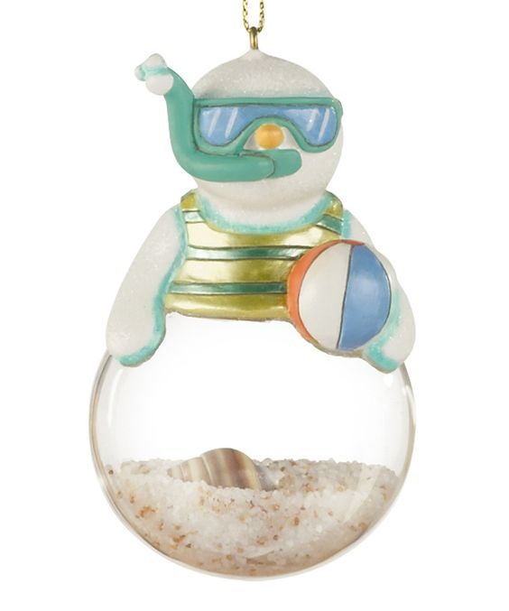Loving this Snorkeling Snowman Ornament on #zulily! #zulilyfinds