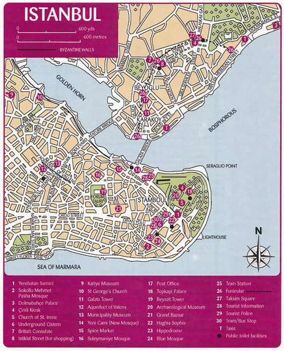 Istanbul Map - Things to do and location information.