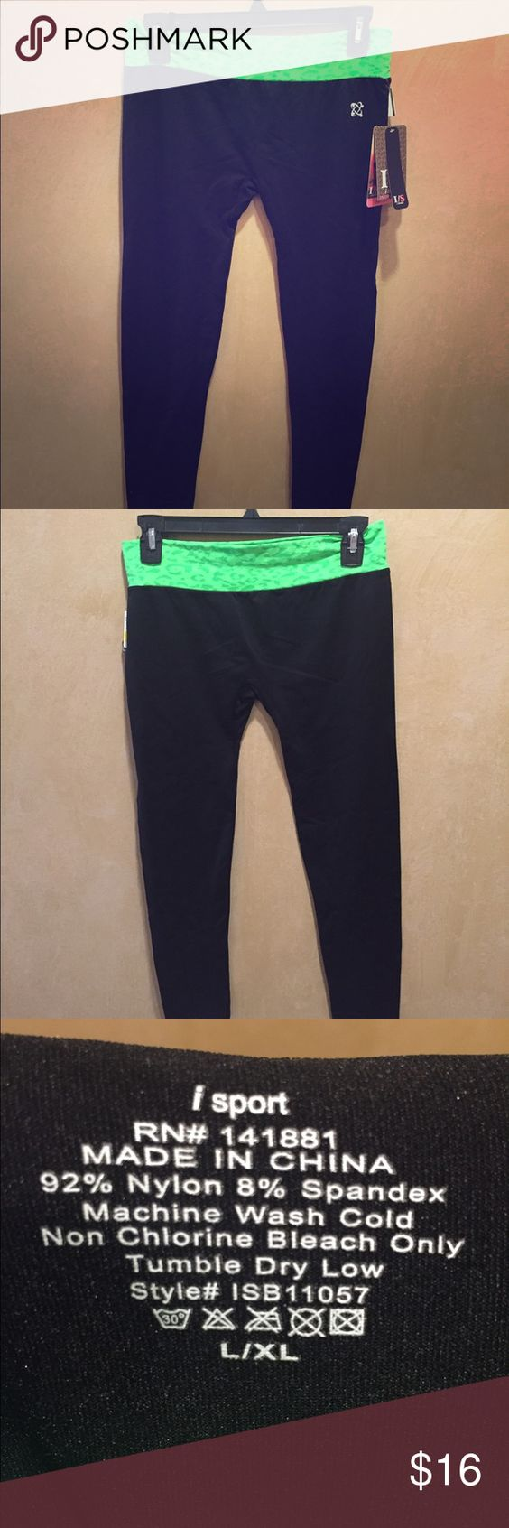 iSport workout pants The softest workout pants!! Pulls moisture away from skin to keep you dry, four way stretch all over, fade resistant! Pants Track Pants & Joggers