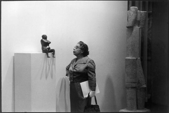 New York City. at the Museum of Modern Art. 1959. by Eve Arnold: