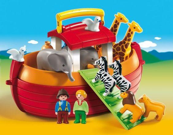 Die Arche beherbergt Noah und seine Frau sowie 10 Tiere plus Futtersack und Vogeltränke