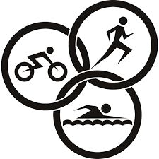 triathlon logos or badges set vector figures triathletes on a white rh pinterest com triathlon logos free triathlon logos free