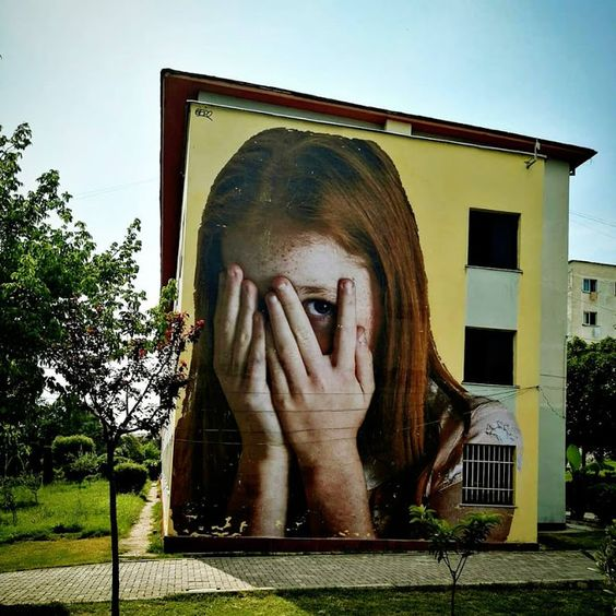 New mural by artist Bifido in Tirana, Albania ~.~