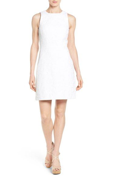 MICHAEL Michael Kors 'McKenna' Jacquard Sheath Dress (Regular & Petite) available at #Nordstrom