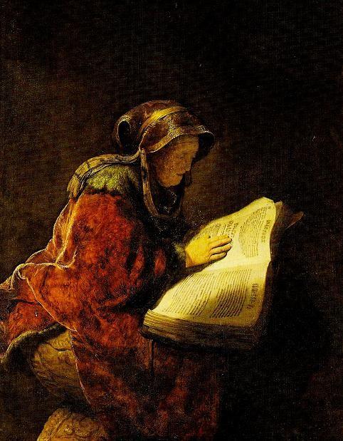 "Rembrandt ""Oude lezende vrouw"""