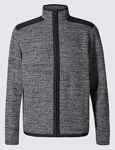 Tailored Fit Long Sleeve Fleece Jacket