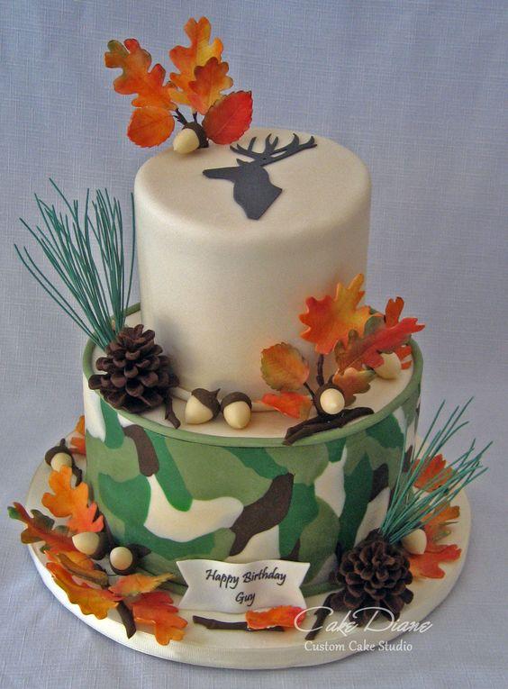 Camo Deer Hunting Cake Adult Birthday Cakes Pinterest
