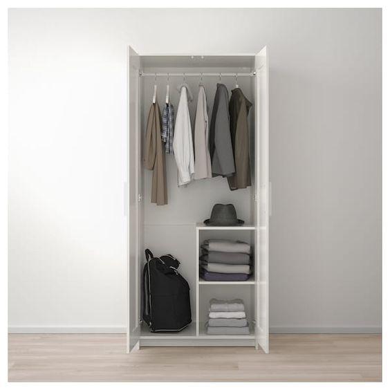 Brimnes Wardrobe With 2 Doors White Brimnes Wardrobe Ikea
