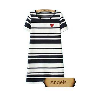 女裝韓國修身顯瘦打底裙短袖連衣裙79 | Angels
