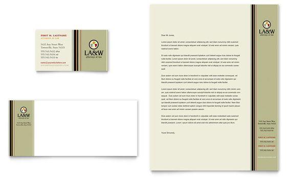 Lawyer \ Law Firm Business Card \ Letterhead Template - Word - letterhead sample