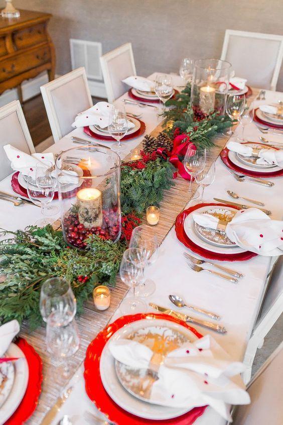 Centros De Mesa Navideños Modernos Mesas De Cena De Navidad Comedores De Navidad Centros De Mesa Navidad