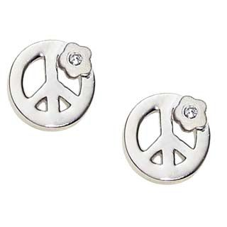 Diamond Peace Sign Earrings for Girls from www.thejewelryvine.com