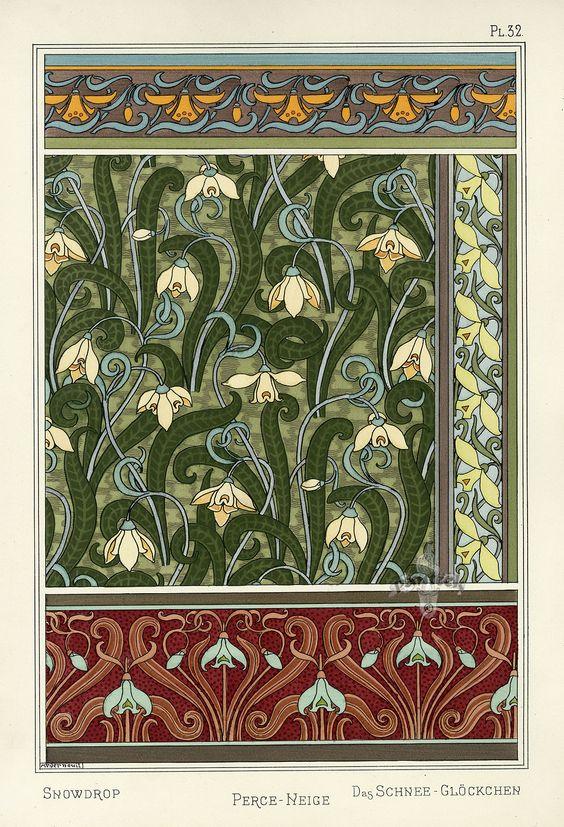 Snowdrop - Pochoir Prints (1896):