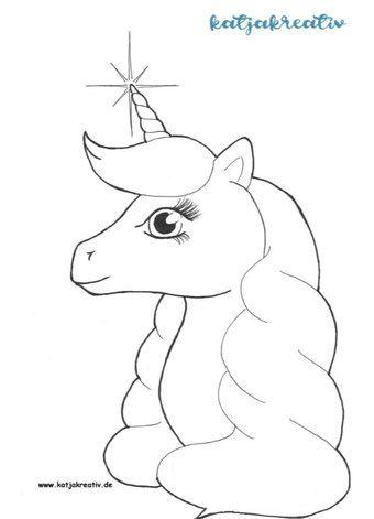 Ausmalbild Einhorn Unicorn Ausmalen Feen Silhouette Ausmalbilder