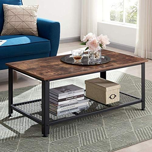 Buy Vinext Industrial Coffee Table Storage Shelf Vintage Wooden