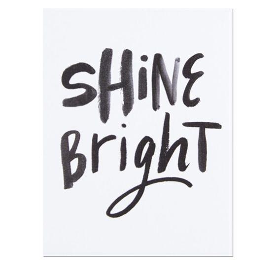 Shine Bright Card - White Cotton Paper