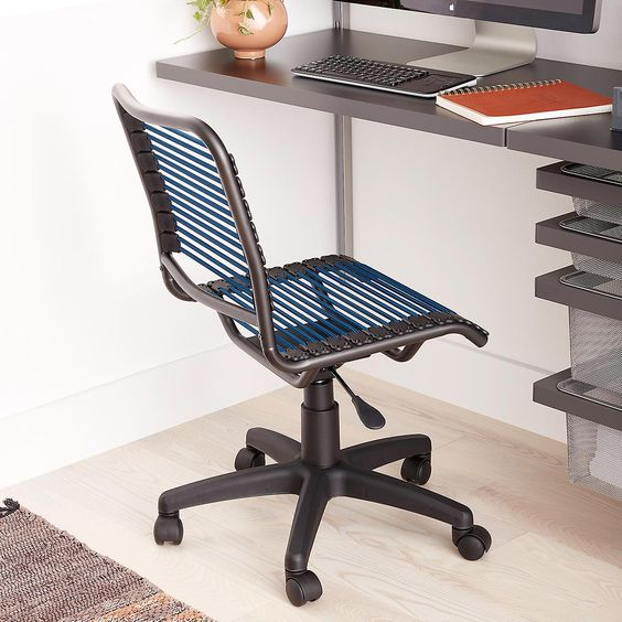 Dark Blue Bungee Office Chair Chair Office Chair Outdoor