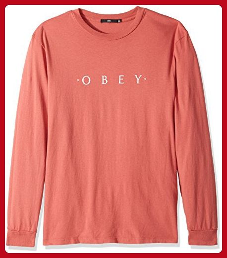 Obey Mens Canvas Long Sleeve Woven Shirt