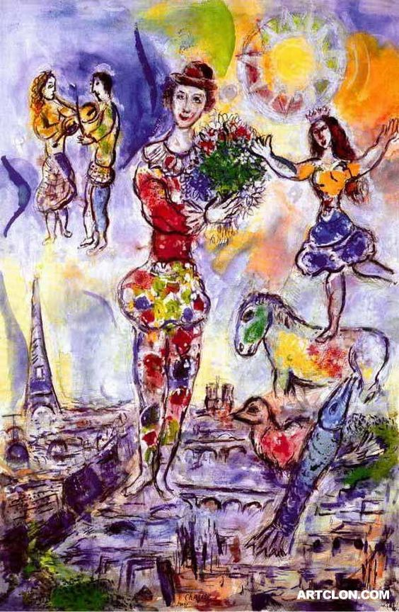 Chagall - On the Roof of Paris