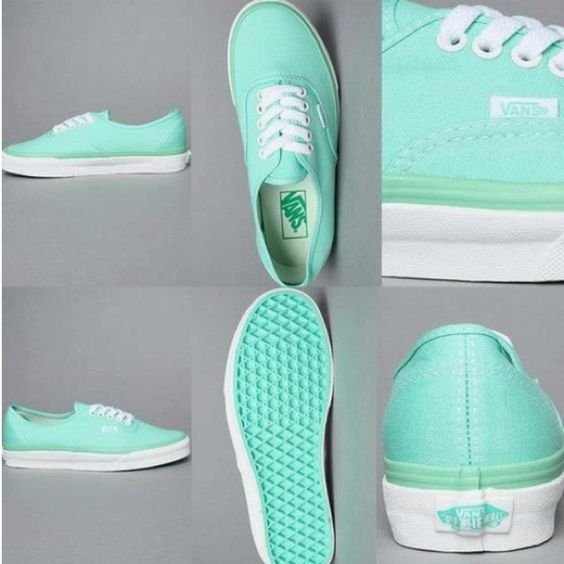 Tiffany colored Vans....SUPER nice and CUTE!! :D