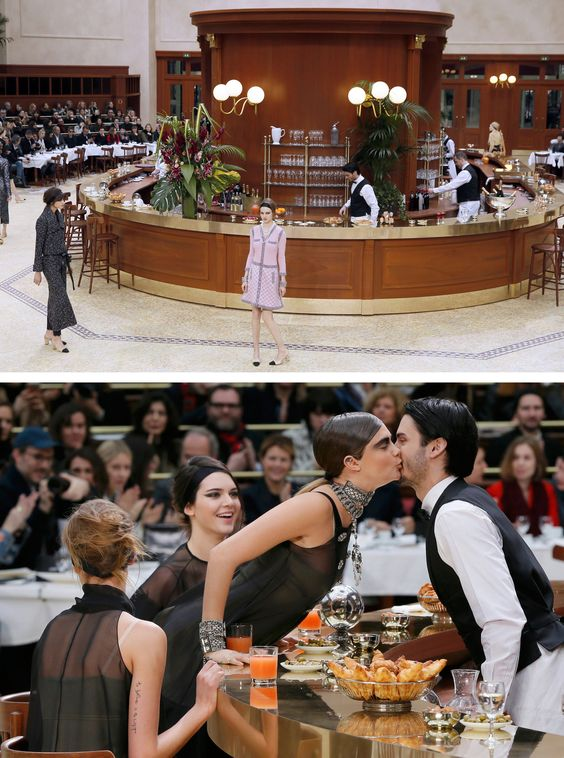 Inside Fashion Week - Breakfast at Chanel - NYTimes.com- Love this brasserie setup from Chanel!