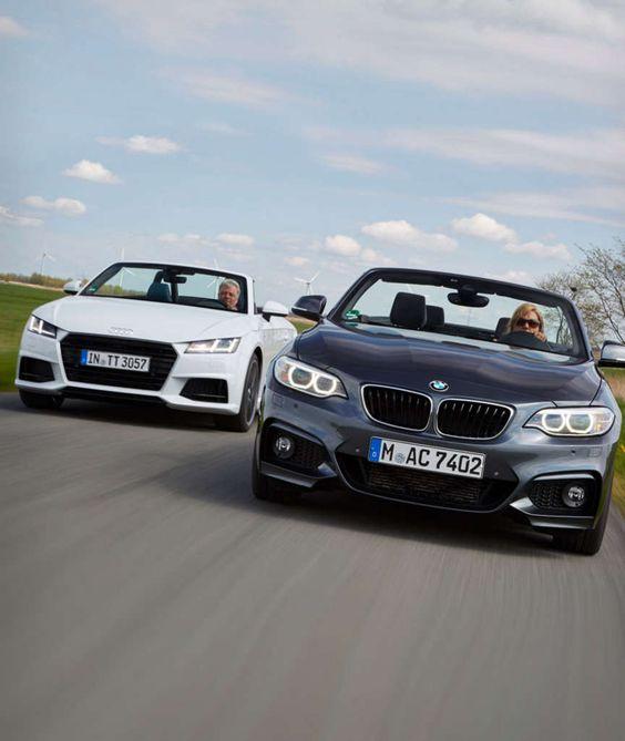 CABRIO-VERGLEICH AUDI TT UND 2ER BMW Frische Brise inklusive
