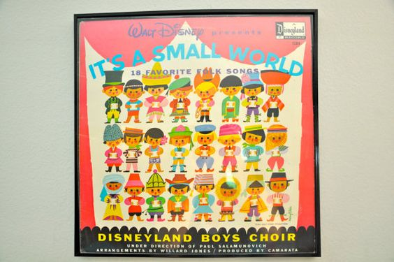 It's a small world vintage viynl record artwork by owefro on Etsy