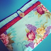 Fabric Quilted Tablet Cover- Martina