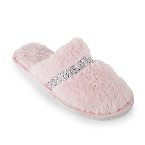 ladies pink mule slippers